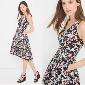 WHBM Floral Printed Fit and Flare Sundress